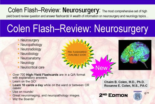 9781935345008: 2nd Edition Colen Flash-Review: Neurosurgery Vol 1 & 2 (Cards)