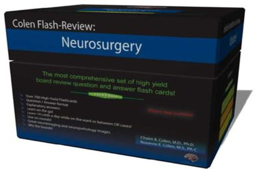 9781935345251: Colen Flash-Review: Neurosurgery 2 Vol Set