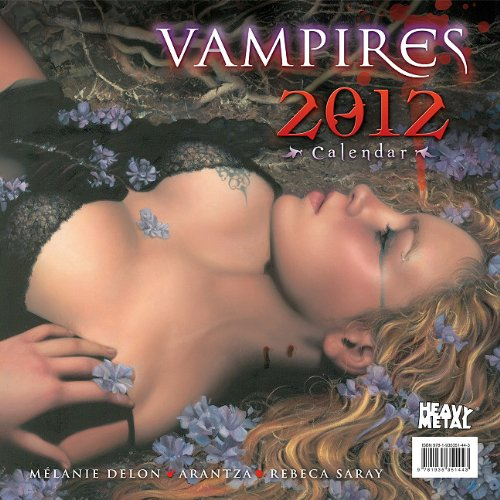 9781935351443: 2012 Vampires Wall calendar (Heavy Metal)