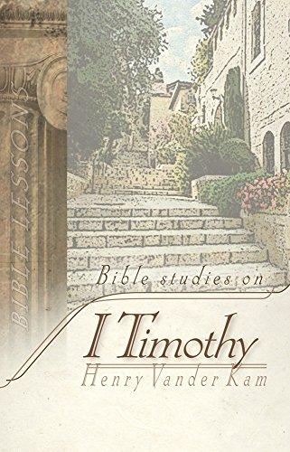 9781935369073: Bible Studies on 1 Timothy