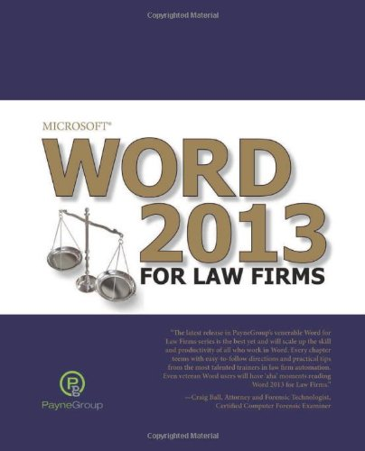 9781935462880: Microsoft Word 2013 for Law Firms