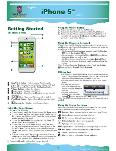 9781935518327: iPhone 5 Quick Source Reference Guide