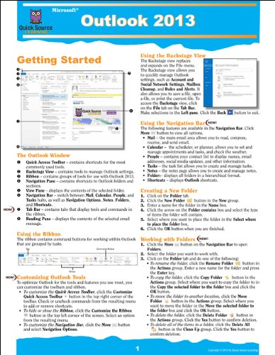 9781935518365: Outlook 2013 Quick Source Reference Guide