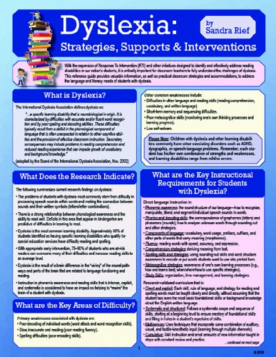Dyslexia: Strategies, Supports and Interventions: Sandra Rief