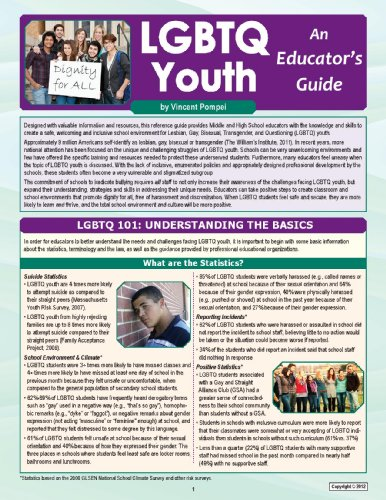 9781935609674: LGBTQ Youth: An Educator's Guide