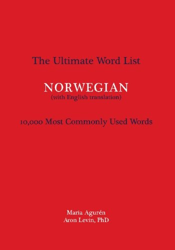 9781935645047: The Ultimate Word List: 10000 Most Commonly Used Words - Norwegian (with English translation) (Norwegian Edition)