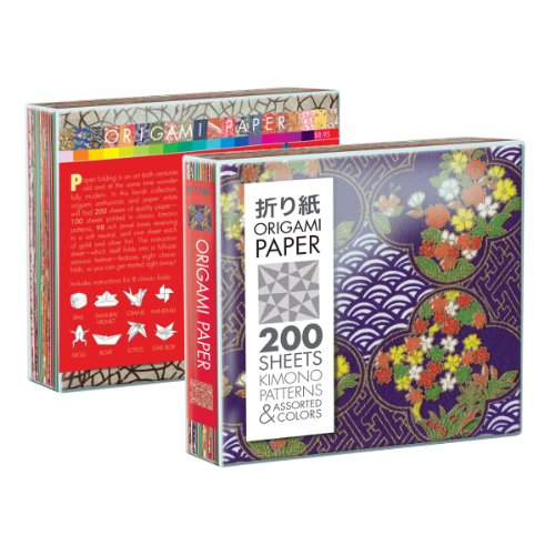 9781935682097: Origami Paper, 200 Kimono Patterns and Jewel-Toned Solids (Origami Paper)