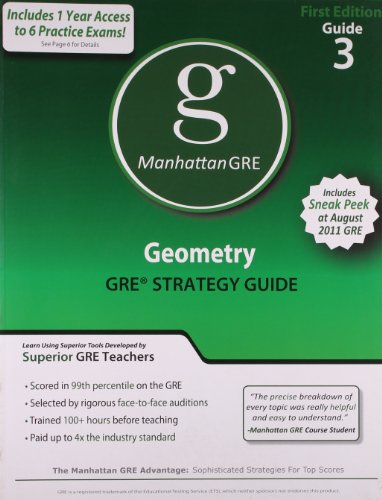 9781935707042: Geometry GRE Preparation Guide, 1st Edition (Manhattan GRE Preparation Guide: Geometry)