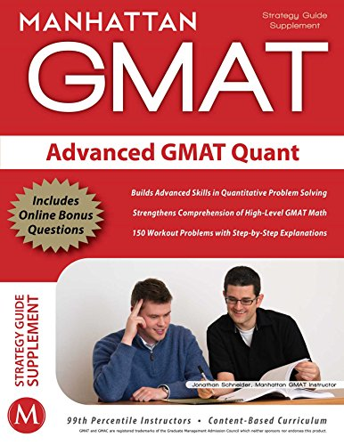 9781935707158: Advanced GMAT Quant (Gmat Strategy Guides)