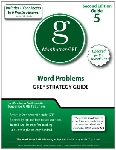Word Problems GRE Strategy Guide, 2nd Edition (Manhattan GRE Strategy Guides): Manhattan GRE