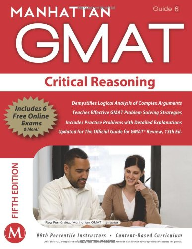 9781935707615: Critical Reasoning GMAT Strategy Guide, 5th Edition (Manhattan GMAT Strategy Guide: Instructional Guide)