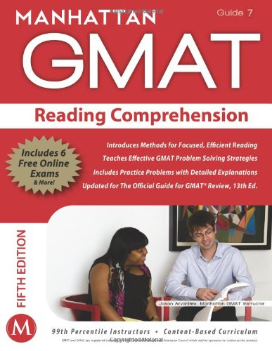 9781935707660: Reading Comprehension GMAT Strategy Guide (Manhattan GMAT Instructional Guide, Vol. 7) (Manhattan Gmat Strategy Guide: Instructional Guide)