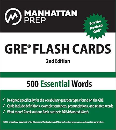 9781935707899: 500 Essential Words: GRE Vocabulary Flash Cards (Manhattan Prep)