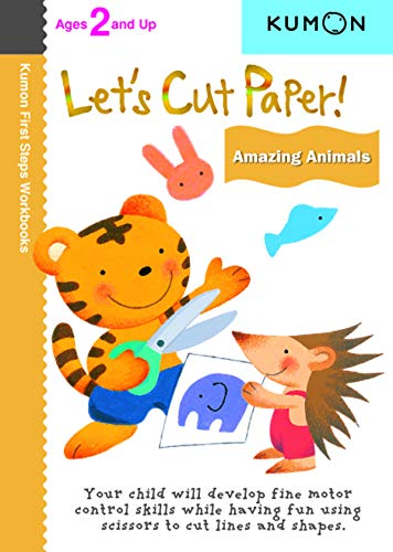 9781935800224: Let's Cut Paper! Amazing Animals (Kumon First Steps Workbooks)
