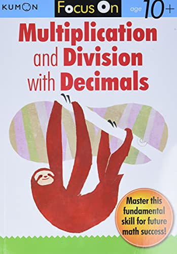 9781935800422: Kumon Focus On Multiplication and Division with Decimals