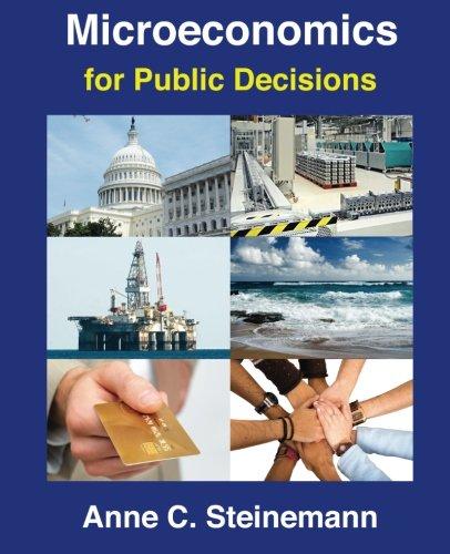 Microeconomics for Public Decisions: Anne C Steinemann