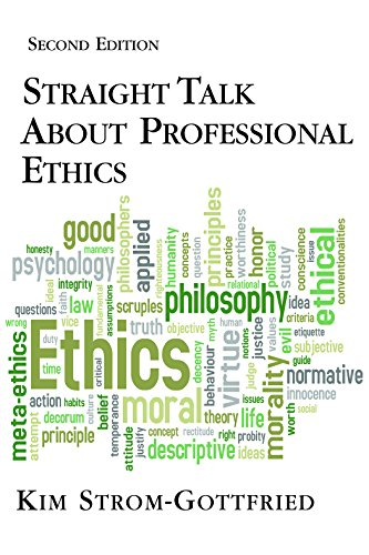 9781935871460: Straight Talk about Professional Ethics
