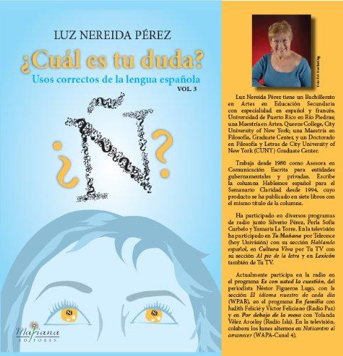 Cu?l es tu duda? Vol. 3 (Spanish: Luz Nereida Perez