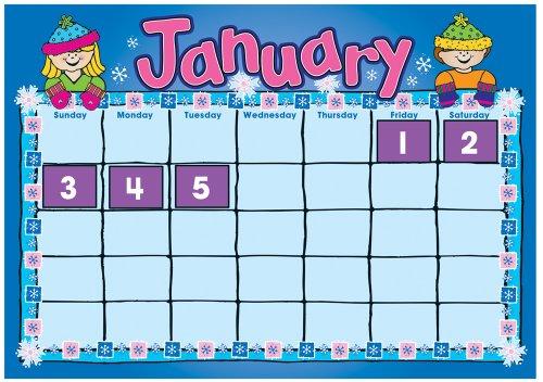 9781936022045: D.J. Kids Calendar Bulletin Board Set