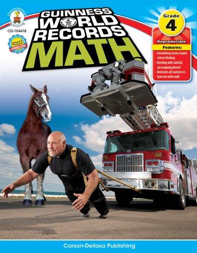 9781936024032: Guinness World Records® Math, Grade 4