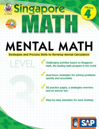 9781936024100: Mental Math Grade 4: Strategies and Process Skills to Develop Mental Calculation