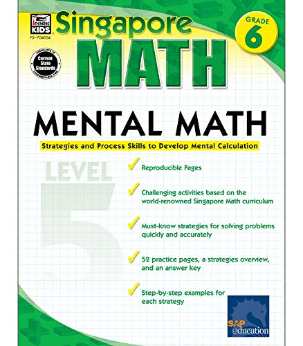 Mental Math, Grade 6: Strategies and Process Skills to Develop Mental Calculation, Level 5 (...