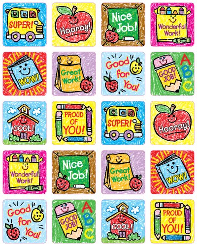9781936024377: School Days: Kid-Drawn Motivational Stickers