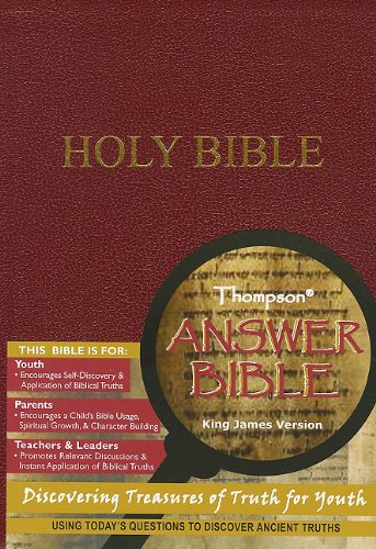 9781936119011: Thompson Answer Bible - KJV - Simulated Burgundy Leather