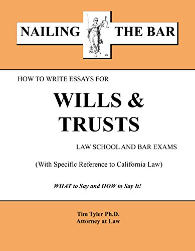 9781936160150: How to Write Essays for Wills and Trusts Law School and Bar Exams (HI)