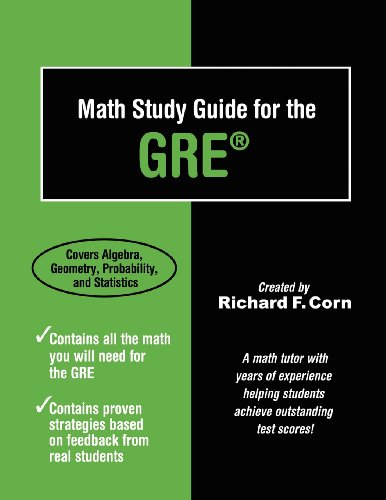 9781936214693: Math Study Guide for the GRE