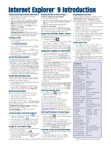 9781936220571: Internet Explorer 9 Introduction Quick Reference Guide (Cheat Sheet of Instructions, Tips & Shortcuts - Laminated Card)