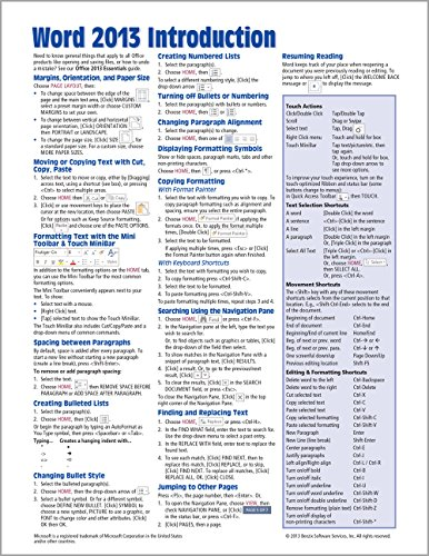 Microsoft Word 2013 Introduction Quick Reference Guide: Beezix Inc.