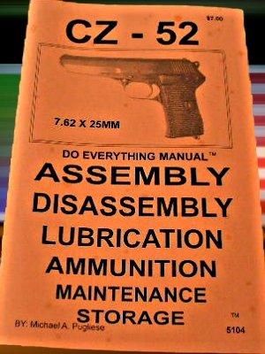 9781936259670: CZ-52 Pistol Manual