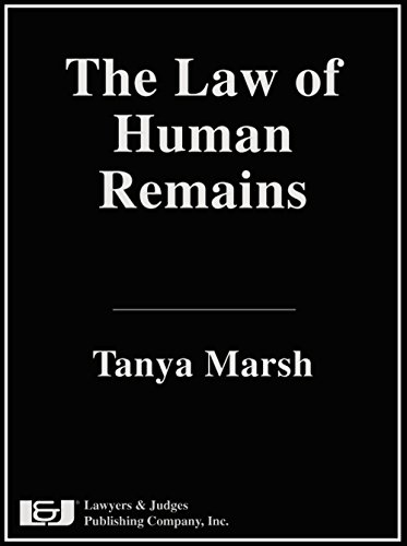9781936360291: The Law of Human Remains