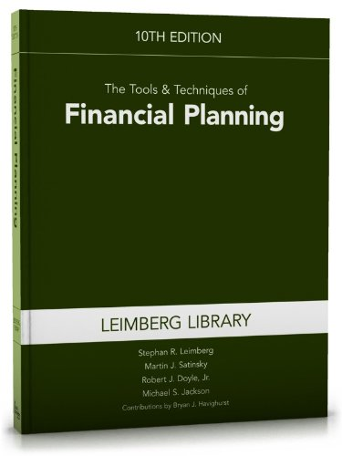 9781936362844: The Tools & Techniques of Financial Planning (Tools and Techniques of Financial Planning)
