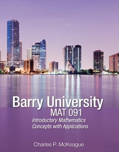 9781936368655: Barry University MAT 091 Introductory Math w/ Access Code