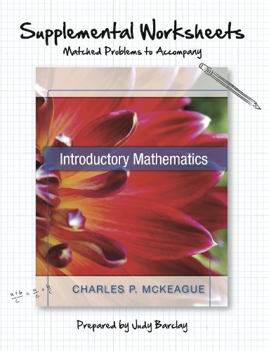 9781936368891: Supplemental Worksheets: Matched Problems to Accompany Introductory Mathematics