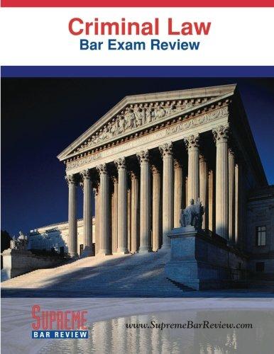9781936450039: Criminal Law: Bar Exam Review