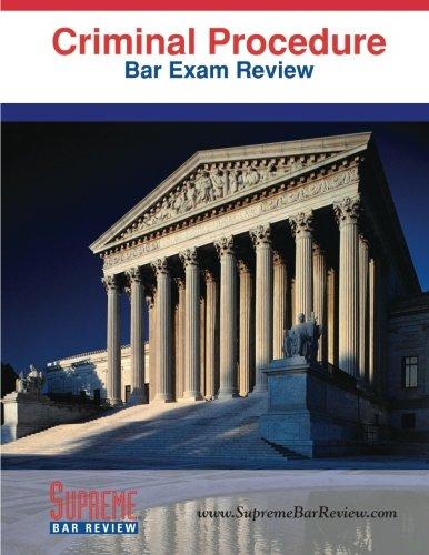 9781936450046: Criminal Procedure: Bar Exam Review