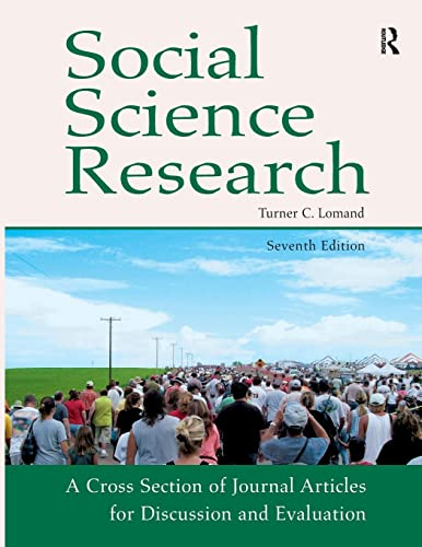 9781936523016: Social Science Research: A Cross Section of Journal Articles for Discussion & Evaluation