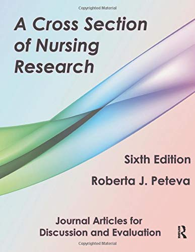9781936523337: A Cross Section of Nursing Research: Journal Articles for Discussion and Evaluation