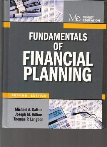 9781936602032: Fundamentals of Financial Planning