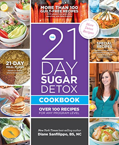The 21-Day Sugar Detox Cookbook: Over 100 Recipes for Any Program Level: Sanfilippo BS NC, Diane