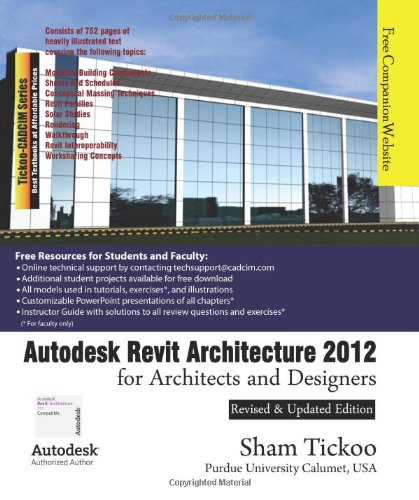 9781936646036: Autodesk Revit Architecture 2012 for Architects and Designers