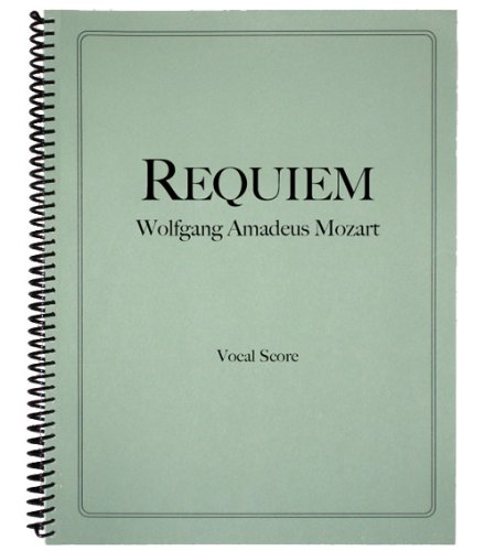 9781936710034: Mozart - Requiem, K. 626, Vocal Score