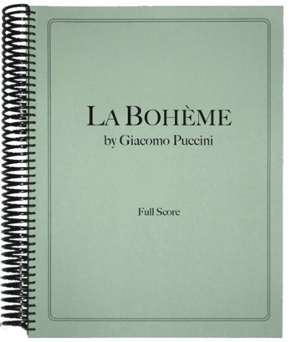 9781936710140: La Boheme in Full Score
