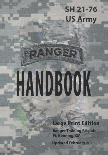 9781936800087: US Army Ranger Handbook Sh21-76 Updated February 2011 Large Print Edition