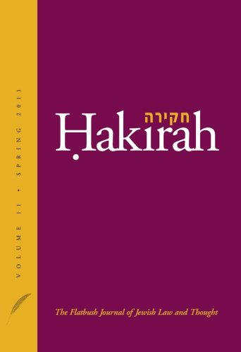 9781936803002: Hakirah: The Flatbush Journal of Jewish Law and Thought (Volume 11)
