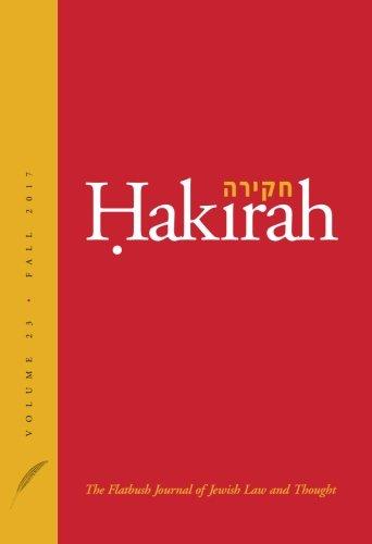 Hakirah: The Flatbush Journal of Jewish Law: Zelcer, Heshey; Pfeffer,