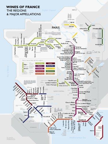 Metro Wine Map of France: David Gissen